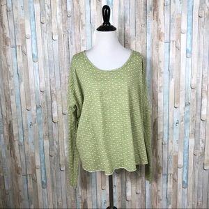 Cut Loose OS Polka Dot Boxy Pullover Sweater Top